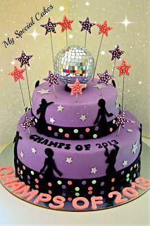 Disco Themed Graduation  Cake