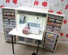Win a Storage4Crafts Foldaway Petite Dunster Sewing Cabinet worth £995