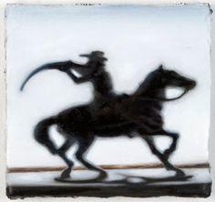 Lennart Rieder  Cowboy, 2012, Öl auf Leinwand, 18 x 22 cm