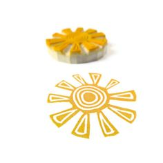 Tribal Sun Stamp - Rubber Stamp - Cling Rubber Stamp.