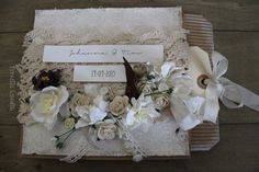 Wedding card made of paper bag. Big tag inside.