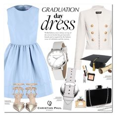 """""""Graduation day Dress"""" by oshint ❤ liked on Polyvore featuring Balmain, RED Valentino, Valentino, Givenchy and Christian Dior"""