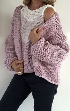 I have a clogged drain. I was going use a wire hanger.old school. Knit Cardigan Pattern, Crochet Cardigan, Knit Crochet, Woolen Clothes, Knitwear Fashion, Sweater Outfits, Knitting Patterns, Trends, Couture