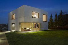 maison cube contemporaine