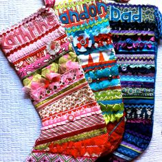 Christmas Stocking - Quilted Patchwork Boutique - custom made by Kat Miles for Janicey2K. $63.00, via Etsy.