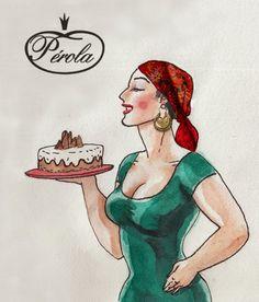 Confeitaria Pérola - Barcelosilustrações do artista Sama para confeitaria e pastelaria A pérola em Bracelos Uma confeitaria com 75 anos de tradição.