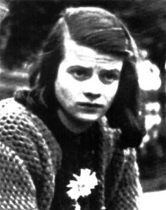 Sophie Scholl was convicted of high treason for distributing anti-Nazi  leaflets during WW II and sent to the guillotine at the age of 21.