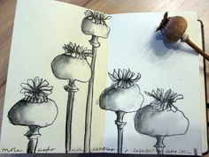 Pick a flower or singular object and draw several times creating a composition...you can do it!