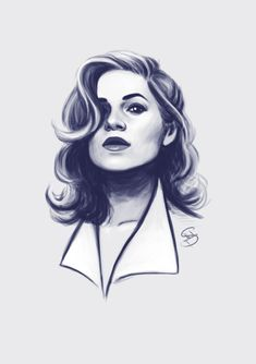 notyourdroid:  A quick sketch of Peggy because AGENT CARTER GOT RENEWED FOR SEASON 2 LET'S REJOICE CHILDREN