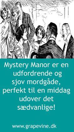 Mordet på Mystery Manor kræver hverken udklædning eller skuespillerindsats af gæsterne, men er et finurligt mordmysterium som alle, uanset antal gæster, kan være med til at løse. Diy Party, Mystery, Maj, Hunts, Halloween, Memes, Crafts, Manualidades, Meme