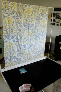 homemade backdrops, use a Table Cloth, Shower curtain, window panels
