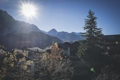 """See 86 photos and 4 tips from 325 visitors to Scuol. """"My favorite combo is to go up with the gondola lift, hiking to the next station, while taking. Gondola Lift, Four Square, Mount Everest, To Go, Hiking, In This Moment, Mountains, Random, Pictures"""