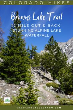 Browns Lake nestled beneath Jones Peak and Mount White is breathtaking and memorable. Want to push yourself a bit farther in your day hike? This is the hike for you. Browns Lake Trail was a complete surprise! Colorado USA