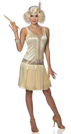 Women's 20's Debutante Champagne Flapper Costume - Candy Apple Costumes - New Costumes for 2014