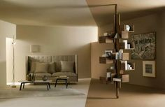 ALBERO, design Gianfranco Frattini, conceived in the late 1950s as a flour-to-ceiling ,free- standing bookcase.