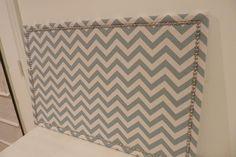 Fabric covered nailhead bulletin board tutorial
