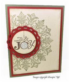 Medallion Christmas Card Card Creations by Beth