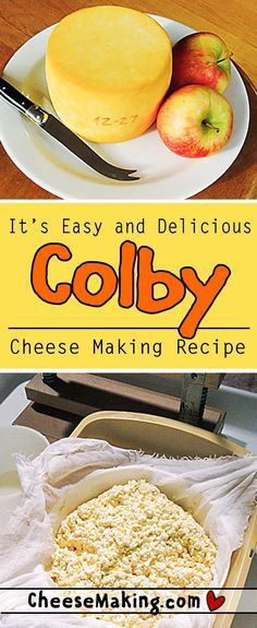 Learn how to make Colby with this easy to follow recipe. There's even step by step photos that help explain the whole process. This cheese is fun to make and perfect for new cheese makers. With just a few simple ingredients and equipment you'll be ready to make Colby right at home! http://Cheesemaking.com