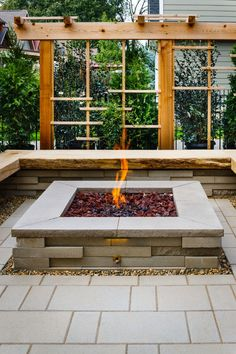 Looking For A Fire Pit Idea? For This Landscape Project, The Graphix Wall  Units