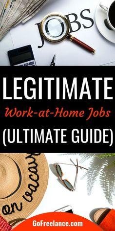 The Ultimate Guide to Real, Legitimate Work from Home Jobs Easy Online Jobs, Online Jobs From Home, Online Work, Work From Home Tips, Make Money From Home, Way To Make Money, Business Folder, Best Home Based Business, Internet Jobs