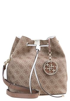 Guess CHRISTY  - Handtasche - brown - Zalando.at Bucket Bag, Brown, Bags, Fashion, Handbags, Moda, La Mode, Dime Bags, Fasion