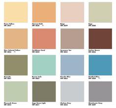 Great color scheme! Via  Mad for Mid-Century: Suburban Mid-Century Paint Colors