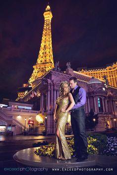 Las Vegas Strip Photo Tour, Exceed Photography, Couples photos, Las Vegas Photos