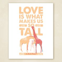 Giraffe Family Wall Art PRINTABLE. $20.00, via Etsy.