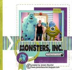 Monsters,+Inc. - Scrapbook.com Disney layout