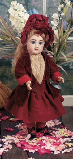 First Blush: 226 French Bisque Bebe Jumeau,Size 7
