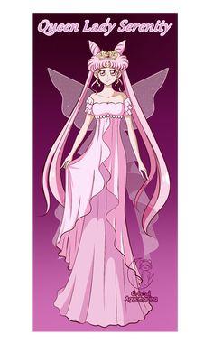 Queen Lady Serenity by cristalaguamarina on DeviantArt Sailor Moon Toys, Sailor Chibi Moon, Sailor Moon Cosplay, Black Girl Art, Black Lady, Chibiusa And Helios, Sailer Moon, Sailor Princess, Sailor Moon Wallpaper