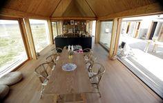 Lene Tranberg, danish architect, summerhouse, wood, cottage, cabin, minimal, outdoor indoor living, Denmark