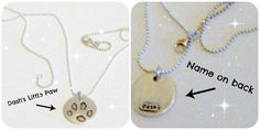 Enter to win a customized fine silver necklace of your pet's paw print!