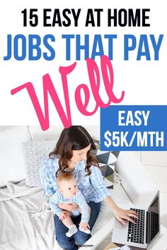 15 Easy Jobs That Pay Well for Moms (+ Hourly Rates) for 2020 - Twins Mommy - Earn Money Earn More Money, Ways To Earn Money, Earn Money From Home, Earn Money Online, Online Jobs, Way To Make Money, Money Fast, Big Money, Making Extra Cash