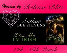 RELEASE BLITZ KissMe Im Irish byBee StevensHosted by Jo&Isalovebooks  SYNOPSIS  Ireland calls to Haileys soul like an emerald siren. Her past is inextricably linked to this small island.  Cillian is a jack of all trades with a musicians restless soul. He loves his country  the history the landscapes the people and the traditions  but is it his forever home?  With his Irish charm his silken tongue and the weird effect he has on her nipples Hailey struggles to resist.  Discovering the romance…
