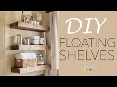 3 Victorious Tips AND Tricks: Floating Shelf Entertainment Center Medium rustic floating shelves kitchen.Floating Shelves Around Tv Signs how to build floating shelves simple.Floating Shelves Under Mounted Tv Cable Box. Hanging Rope Shelves, Wood Floating Shelves, Rustic Shelves, Diy Hanging, Wall Shelves, Bathroom Shelves, Shelving, Corner Shelves, Diy Regal