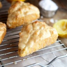 Lemon Cream Scones are delectable, light, and luscious - just look at that glaze!