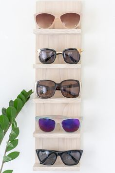 b68944c9d49b Is your sunglasses collection a mess  Make a DIY sunglasses organizer to  display them in
