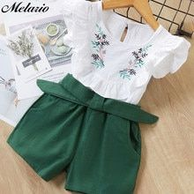Casual Summer Girls Clothing Sets Plaid T-shirt Shorts Two piece Kid Clothes Set - Children's fashion Baby Outfits, Girls Summer Outfits, Baby Girl Dresses, Short Outfits, Kids Outfits, Cute Outfits, Summer Girls, Dress Girl, Summer Clothes For Girls