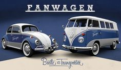 Fanwagen Facebook Cars by VW. The most famous cars ever made.