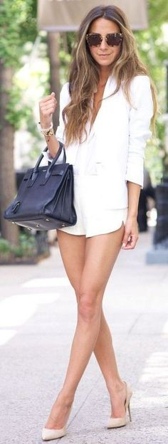 #summer #musthave #outfits | Al White + Pop Of Nude and Black