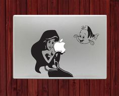 "Mermaid and Flounder Decal Sticker Vinyl For Macbook Pro Air 13"" Inch 15"" Inch #disney #macbookdecal #macboogagets"