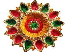 Decorated Diya For Diwali