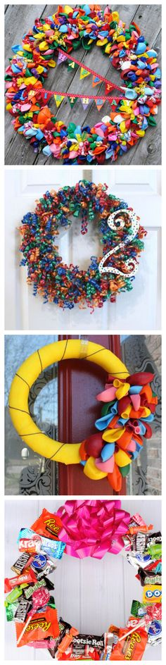 Birthday Party Wreaths #partyideas #DIY