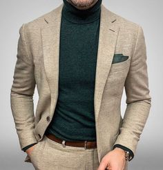 visit our website for the latest men's fashion trends products and tips . Blazer Outfits Men, Stylish Mens Outfits, Mens Fashion Suits, Mens Suits, Men's Fashion, Tan Suit Men, Suit Vest, Fashion Tips, Fashion Styles