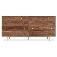 Room & Board - Hudson 72w 20d 34h Ten-Drawer Dresser with Steel Base