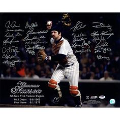 Thurman Munson photo for sale.  A Rare Gem 16x20 photo of Thurman Munson.  Signed by over 20 former team-mates including:  Goose Gossage,       Reggie Jackson,      Chris Chambliss,     Graig Nettles,     Lou Pinella,     Mickey Rivers,      Bucky Dent,      Ron Guidry,      Sparky Lyle,     Paul Blair,      Oscar Gamble          & many more.   Call Ken at (862) 238-7268 or email me for more information: kthimmel@gmail.com