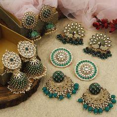 Buy Ultra Pretty Ethnic Earrings Online Now Indian Jewelry Earrings, Indian Jewelry Sets, Jewelry Design Earrings, Gold Earrings Designs, Indian Wedding Jewelry, Ear Jewelry, India Jewelry, Indian Bridal, Fashion Earrings