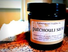patchouli salve new larger 35 oz amber glass by featherheartflower, $12.00