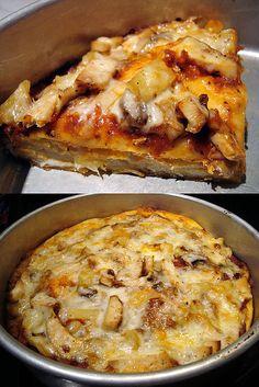 Copycat Pizza Hut Pan Pizza DSC03677 by Buttercream Barbie, via Flickr